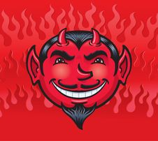 Free Smiling Devil Royalty Free Stock Image - 36504826