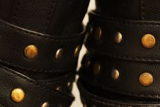 Free Steel Support Rivets On Leather Shoes Macro Royalty Free Stock Photography - 36509517