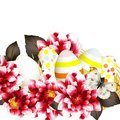 Free Easter Vector Background With Eggs And Flowers Stock Images - 36514514