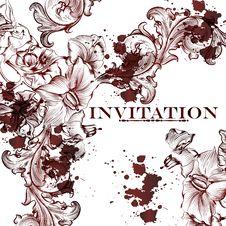 Free Elegant  Floral Vector Pattern Or Background Stock Images - 36514554