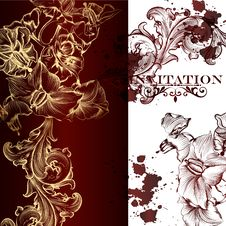 Free Elegant Vector Invitation Card Stock Photo - 36514580