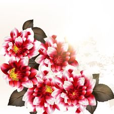 Free Floral Vector Background With Flowers Stock Photos - 36514593