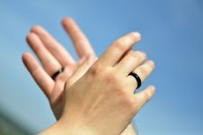 Free Hands With Wedding Rings Stock Image - 36518951