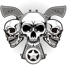Free Skull And Guns Stock Photos - 36519193