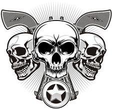 Free Skull And Guns Stock Photos - 36519193
