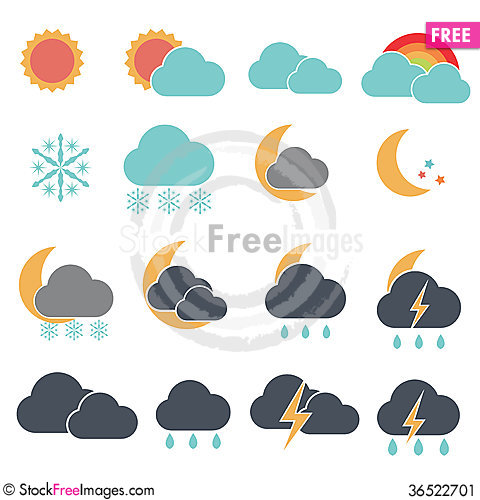 Free Forecast Simple Cute Stock Image - 36522701