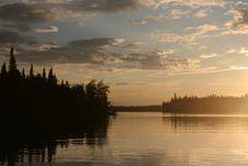 Sunset Lake Royalty Free Stock Photography