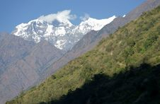Trail In The Mountains, The Himalayas Stock Image