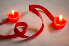 Free Romantic Candles,Valentine Background. Royalty Free Stock Photo - 36526275