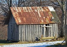 Free Abandoned Old Wooden Barn With Rusted Roof Royalty Free Stock Photo - 36527705