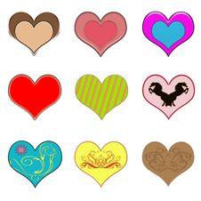 Creative Hearts Royalty Free Stock Photography