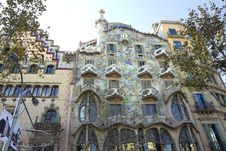 Free Barcelona. The Casa Batllo. Royalty Free Stock Image - 36533366