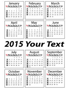 Portrait Calendar 2015 Royalty Free Stock Images