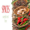 Free Chili, Garlic And Dried Peppers, Isolated Stock Images - 36542894