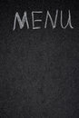 Free Menu Title Is Written White Chalk On A Blackboard Royalty Free Stock Photos - 36543018