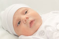 Free Baby In White A Cap Royalty Free Stock Photography - 36546637