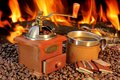 Free Hot Mug Of Coffee By The Fire Royalty Free Stock Image - 36548556