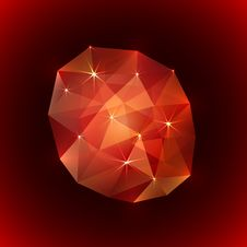 Free Vector Illustration Of Precious Ruby Gemstone Stock Photography - 36542642