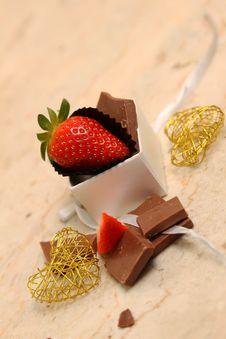 Free Strawberry And Chocolate Stock Photo - 36543100