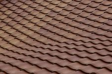 Free Swaying Clay Roof Royalty Free Stock Photos - 36544128