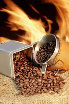 Free Broken Coffee Beans XXXL Royalty Free Stock Images - 36544519