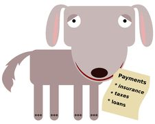 Free Animal With Payments Royalty Free Stock Photography - 36546607