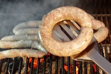 Free Grilled Bratwurst Sausages On The BBQ XXXL Stock Photography - 36547502