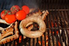 Free Grilled Bratwurst XXXL Stock Images - 36547804