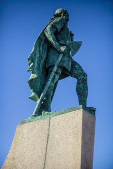 Free Lief Eriksson Statue Iceland Stock Photography - 36548122