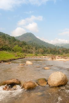 Free Landscape With A Mountain River Royalty Free Stock Images - 36548489