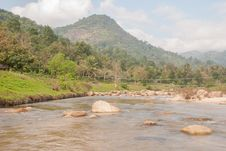 Free Landscape With A Mountain River Royalty Free Stock Images - 36548549