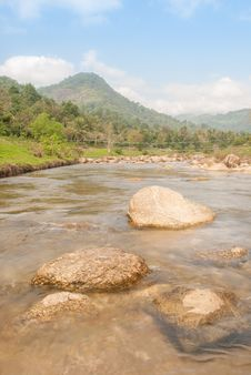 Free Landscape With A Mountain River Royalty Free Stock Photography - 36548577