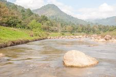 Landscape With A Mountain River Stock Image
