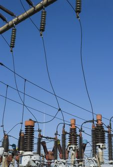 Free Electric Coils Of A Power Grid Stock Photo - 36549200