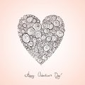 Free Sketch, Heart, Roses Stock Image - 36555451