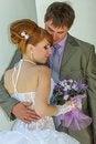 Free Portrait  Redhead  Bride And Groom Stock Photos - 36559913