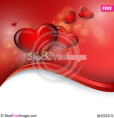 Free Valentine&x27;s Day Vector Background Stock Photo - 36555310