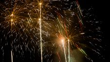Free Fireworks - New Year 2014 Stock Photo - 36550260