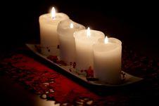 Free Burning Candles Royalty Free Stock Image - 36550936