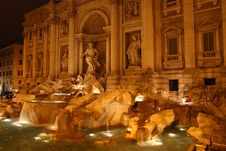 Free Trevi Fountain Royalty Free Stock Photography - 36551777
