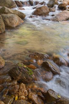 Landscape With A Mountain River Stock Photos