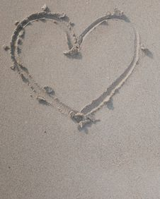 Free Love In The Sand Stock Image - 36552881