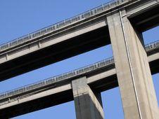 Auto-route Bridge Stock Photography