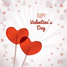 Lollipops Heart Shaped Valentines Day Stock Photo