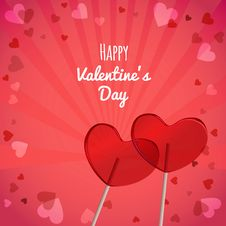 Free Lollipops Heart Shaped Valentines Day Stock Images - 36558314