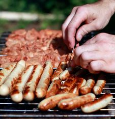Free Grill Sausage Royalty Free Stock Image - 36559696