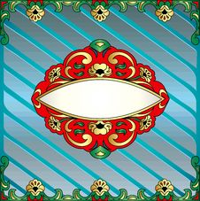 Free Frame With Vegetable Voluminous Gold&x28;en&x29; Ornament Royalty Free Stock Images - 36559879