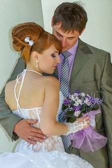 Free Portrait  Redhead  Bride And Groom Stock Photos - 36559913