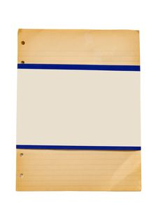 Free Vintage Ruled Paper With Blank Label Stock Image - 36560921