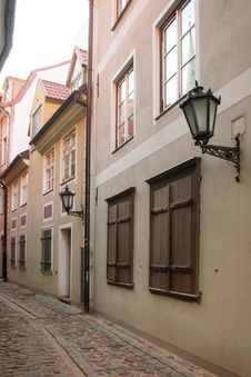 Street Of The Old Town Of Riga, Latvia Royalty Free Stock Photos